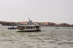View of water boat bus on canal royalty free stock photo