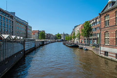 View of the water canal near flowers market Stock Photography