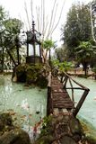 A view of the Water Clock of Villa Borghese in Rome.  royalty free stock image