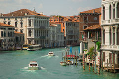 View of water street and old buildings in Venice. Canal in Venice, Italy. Architecture and landmarks of Venice Stock Images