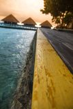 View of water villas resort Stock Image