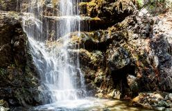 A view of a waterfall. A beautiful view of a waterfall Stock Photos