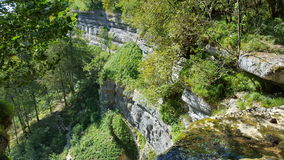 View from waterfall in France. Over 34 meter high Royalty Free Stock Images