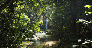 View on waterfall near Salto Limón in Samaná in the Dominican Repub Royalty Free Stock Photography