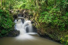 Waterfall at Tawau Hills Park. View of waterfall at Tawau Hills Park, Sabah, Malaysia Royalty Free Stock Image