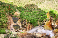 View at waterfall from top rocks Stock Photography