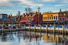 View of the waterfront in Annapolis, Maryland. Royalty Free Stock Image