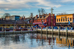 View of the waterfront in Annapolis, Maryland. Royalty Free Stock Photography