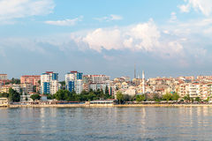 View of  waterfront on Canakkale, Turkey. Stock Photos