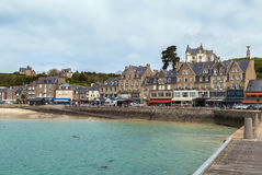 View of waterfront in Cancale, France Royalty Free Stock Images