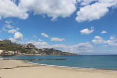 View of waterfront in Giardini Naxos. Italy Royalty Free Stock Images