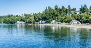 Dash Point Waterfront Homes Royalty Free Stock Photo
