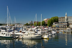 A view of the waterfront & landmark buildings, Victoria Royalty Free Stock Photography