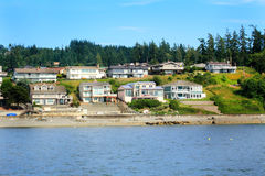 View of  Waterfront Neighborhood Stock Photography