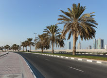 view of the waterfront of Sharjah UAE Royalty Free Stock Photography
