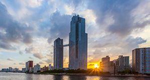 View of waterfront Tokyo city at twilight Royalty Free Stock Photography