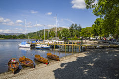 View from Waterhead on Lake Windermere Stock Image