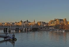 View from Waterloo Bridge stock photo