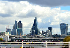 View from Waterloo bridge Royalty Free Stock Photography