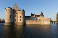 Castle Sully-sur-Loire, France Waterside stock images