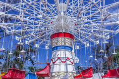 View of wave swinger fun ride, Chennai, India, Jan 29 2017 Royalty Free Stock Photos