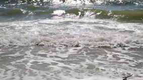 view of the waves of the Black Sea on a summer sunny day stock footage