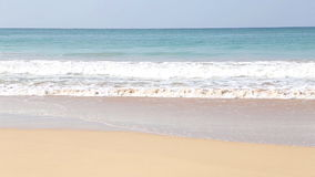 View of the waves breaking on sandy beach of Mirissa, Sri Lanka. stock video footage