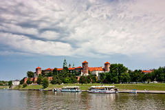 View of Wawel Castle Royalty Free Stock Images