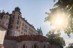 View of Wawel castle, Cracow, Poland Stock Photography