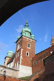 View of Wawel Castle in Krakow, Poland Royalty Free Stock Photography
