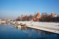 View of the Wawel castle Royalty Free Stock Image