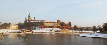 View of the Wawel castle Royalty Free Stock Images