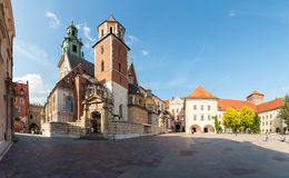 View of Wawel Cathedral, Cracow, Poland stock photos