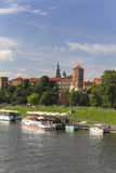 View on Wawel Royal Castle and Vistula river, Cracow, Poland Stock Photos
