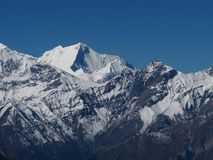 View on the way from Thorung La pass to Muktinath Stock Image
