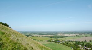 View of the Weald and a nice blue sky royalty free stock photo