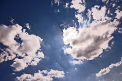 View on weather from cosmos Stock Photo