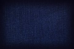 View of the weave. A closeup of a piece of denim fabric royalty free stock photography