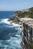 View from wedding cake rock along coastline in Royal National Park Royalty Free Stock Photography