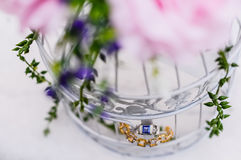 Wedding Ring and Bracelet Royalty Free Stock Photos