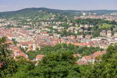 View from Weissenburgpark on the city of Stuttgart Stock Images