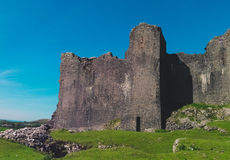 View of a welsh castle on the hill Stock Photo