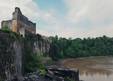 View of a welsh castle and river Stock Photos