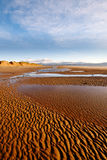 View of Welsh mountains from Newborough beach Royalty Free Stock Image