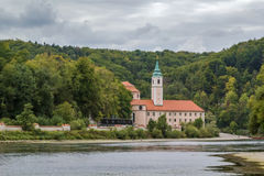 View of Weltenburg Abbey, Germany Royalty Free Stock Photography