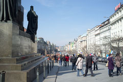 Wenceslas Square in Prague Royalty Free Stock Photo