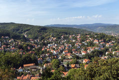 View from Wernigerode Castle, Germany Royalty Free Stock Photo