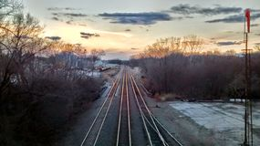 View west in Atchison Kansas royalty free stock image
