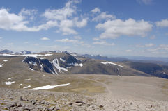 View west from Cairngorm. View west from the summit of Cairngorm, Scotland stock photos