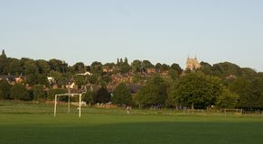 A view of the West Common, Lincoln, Lincolnshire, United Kingdom. August 2009 Royalty Free Stock Images